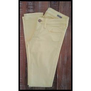 Mavi Super Skinny Jeans Yellow Serena Low Rise 26